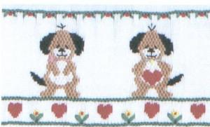 Cross-eyed Cricket  CEC109 Puppy Love Smocking Plate