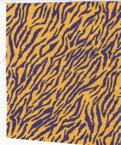 Fabric Finders 15 Yd Bolt 9.34 A Yd  FF871 100% Pima Cotton Fabric 60 inch Gold With Purple Tiger Stripes