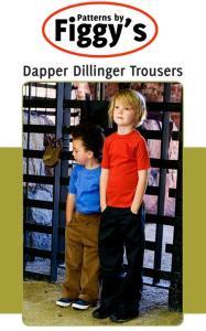 Figgy's Dapper Dillinger Trousers Pattern Size 12m-6/7yrs