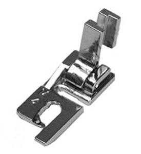 P60960 Felling Foot Low Shank Screw On All Metal 4mm Wide 2-Step Flat Felled Seams