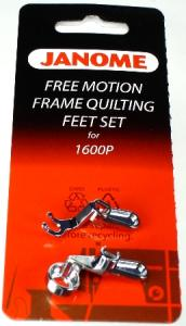 Janome 767434005 High Shank Ruler Foot +Open Toe Free Motion Feet for 1600P DB DBX QC, Elna 7100 Quilting Machines on Stand Up Frame or Sit Down Table