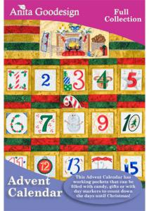 Anita Goodesign 146AGHD Advent Calendar Full Collection Multi-format Embroidery Design Pack on CD