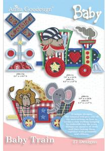 Anita Goodesign 37BAG Baby Train Baby Collection Embroidery Design Pack on CD