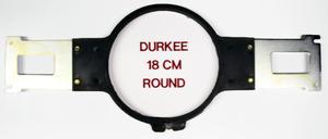 """Durkee PR18RD 7"""" Round Hoop & Brackets, Brother PR600 PR1000 Babylock"""