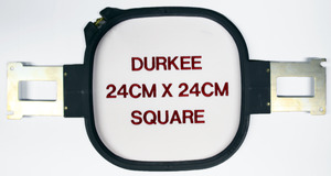 "Durkee PR2424SQ Square 9x9"" Hoop & Brackets for Brother PR600, PR655, PR1000, PR1050, Babylock* Sews 8x8"" or Split Designs up to 4x8"""