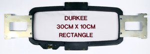 Durkee PR3010 30x10cm (11 7/8 x 4) Rectangle Embroidery Frame Single Hoop with Brackets for Brother PR6-10 Needle, Babylocks