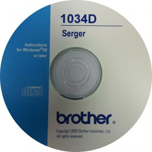 Brother 1034D Video CD on Serger Instruction Operation, Features & Included Accessories, Threading, 3 Thread Overlock, 4 Thread Seams, Rolled Hems