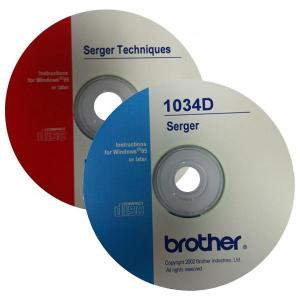 Brother Serger Video Instructions & Techniques CD's for 1034D, 1134DW, DZ1234, 1634D, 3034D DZ1234