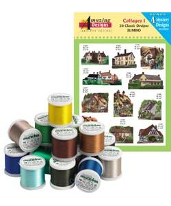 Amazing Designs ADC-12JTK Cottages I Complete Collection Embroidery Designs with 18 Spools of Thread