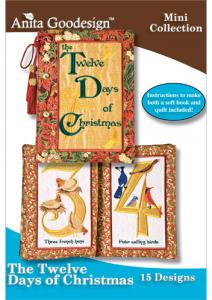 Anita Goodesign 99MAGHD 12 Days of Christmas Mini Collection Embroidery Design Pack on CD