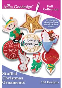 Anita Goodesign 149AGHD Stuffed Ornaments Full Collection Multi-format Embroidery Design Pack on CD