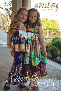 Pink Fig PF20 Miss Kitty Apron Top & Dress Pattern 12m to 10