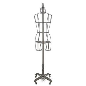 27047: PGM Pro 901B Antique Metal Wire Dress Form Display Mannequin, Choose Size 2, 4, 6 or 8