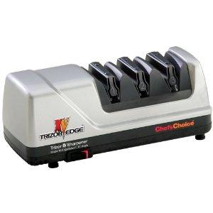 Chefs Choice 0101500 15Trizor XV Knife Sharpener EdgeSelect, Brushed Metal, Flexible Spring Guides, 3Stage, Convert 20°Factory EU,USA to 15°Asian Edge