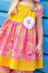 Juvie Moon Tilly  Peasant Dress Pattern Size 3/6mo to 12 Years