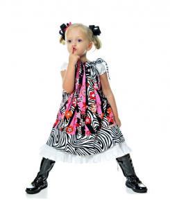 Juvie Moon Elizabeth Anne Pillowcase Dress Pattern Size 18 Mo to 12 Years