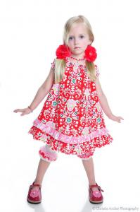 Juvie Moon Laila  Peasant Style  Dress Pattern Size 6 Mo to 12 Years
