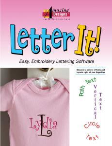 Amazing Designs AD-LI Letter It! Software, 35 Alphabets, Fonts Importer