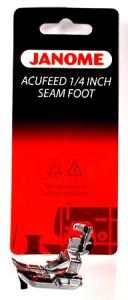 "Janome 55- 202031002 Acufeed 1/4"" Seam Foot: 7700 6600, Elna 7300, 740"