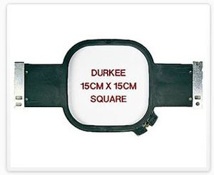 Durkee JN-1515cm Square 6x6 Inch Embroidery Hoop for Janome MB4 Needle Machines