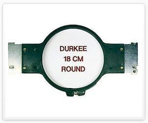 "Durkee JN-18cm Round 6-3/4"" Embroidery Hoop with Brackets for Janome MB4 Embroidery Machines"
