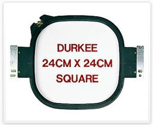 "Durkee JN-24x24cm 9x9"" Square Embroidery Hoop for Janome MB4 Embroidery Macgubes"