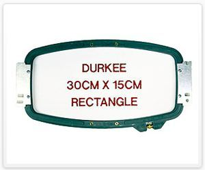 "Durkee JN-3015cm 30cm x 15 cm Rectangle (11 7/8""x6"") Embroidery Hoop for Janome MB4 Embroidery Machine"