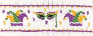 Cross-eyed Cricket  CEC255 Mardi Gras Masquerade Smocking Plate