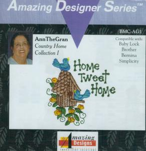 Amazing Designs BMC AG1 AnnTheGran Country Home Collection I Brother Embroidery Card