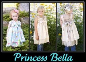 Izzy & Ivy Designs  II139 Pricess Bella Dress Or Top Pattern Sizes 2T to 10