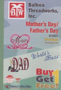 Dakota Collectibles / Balboa Threadworks B70007 Mothers Day And Fathers Day Multi-Formatted CD