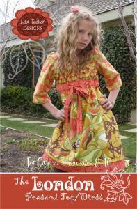 Lila Tueller LT27 London Dress for Girls Pattern Sizes 8 to 16