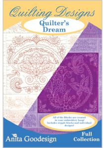 Anita Goodesign 154AGHD Quilter's Dream Embroidery Design Pack on CD
