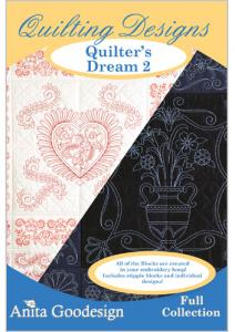 Anita Goodesign 155AGHD Quilter's Dream 2 Full Collection Multi-format Embroidery Design Pack on CD