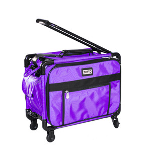 "Tutto 4217CO 17"" Small 16""L x 12""H x 10""D Small Sewing Machine or Accessory Tote Luggage, Top and Front Access"