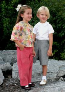 Childrens Corner CC273 Campbell Shirt Blouse, Boys Girls, Pants Shorts
