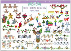 Amazing Designs ENHMC MP2 Martha Pullen's Petite Holiday Treasures Janome Elna Embroidery Cards