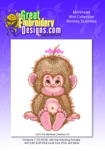 Great Notions Inspiration Collection Moreheads Monkey Business Multi-Formatted CD Embroidery Designs 4x4""