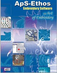 Brother ApS-Ethos Artisan Plus Art of Embroidery Lettering Editing & Digitizing Software