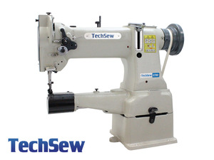 "TechSew 2700 10"" Cylinder Walking Foot Needle Feed Leather Stitcher Machine, Stand, 1/2"" Lift, Small L Bobbin"