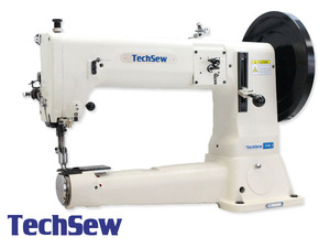 """TechSew 5100FLP Fully Loaded 16.5"""" Cylinder Bed Walking Foot Leather Stitcher, Power Stand"""