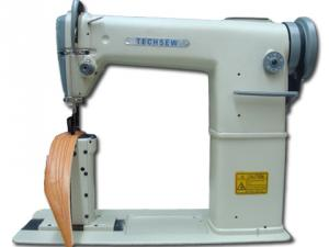 "TechSew 810-1 7""H Post Bed Roller Foot Bottom Feed Leather Stitcher Sewing Machine/Power Stand"