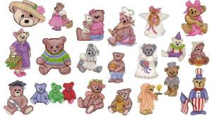 Amazing Designs Great Notions 1284 Teddy Bears II Designs Multi-Formatted CD