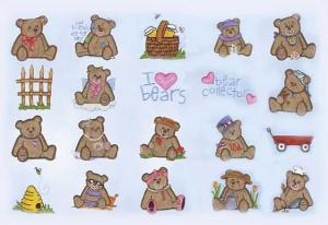 Amazing Designs Sensational Series Plush Pals Teddy Collection 1 Embroidery Card