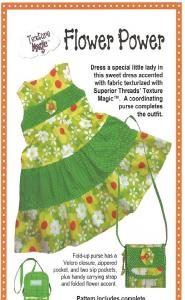 Texture Magic PBA 178 Flower Power Tiered Dress Sizes 3-4 Pattern Also Includes Purse Pattern