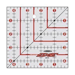 """Sullivans 38174 Cutting Edge 4.5"""" Square Gridded Ruler, Edge Sharpens"""