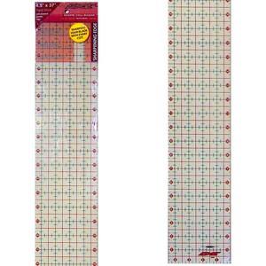 """Sullivans 38205 Cutting Edge 4.5"""" x 37"""" Gridded Ruler & Rotary Blade Sharpener"""