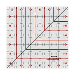 "Sullivans 38176 Cutting Edge 6.5"" Square Gridded Ruler, Blade Sharpener"
