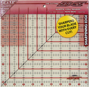 "Sullivans 38180 Cutting Edge 9.5"" Square Gridded Ruler, Blade Sharpener"