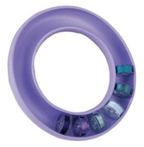Blue Feather 8070B 20 Bobbin Saver Ring, Rubberized Holder, Lavender